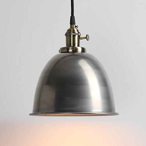 Pathson Industrie Loft-Pendelleuchte Antik Deko Design Metall Schirm innen Pendelleuchte Hängeleuchte Vintage Hängelampen Hängeleuchte Pendelleuchten (Klarlack)