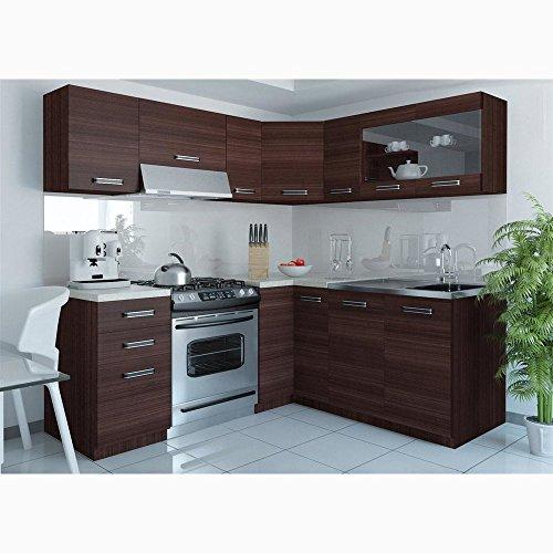 JUSTyou Lidia L L-Küche Küchenzeile Küchenblock 190x170 cm Farbe: Eiche