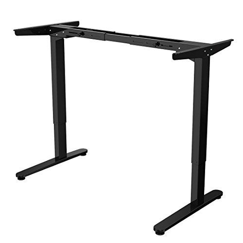 Flexispot EA2B elektrisch stufenlos höhenverstellbares Tischgestell, Höhenverstellbarer Schreibtisch, passt für alle gängigen Tischplatten. Mit Memory-Steuerung und Softstart/-stop.