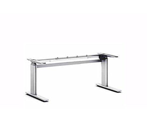 Ergobasis elektrisches Tischgestell Version 3, stufenlos höhenverstellbar von ca. 63 bis 128 cm, manuell breitenverstellbar, mit einem leistungsstarken Elektromotor als ergonomisches Schreibtischgestell für alle gängigen Tischplatten geeignet (bis 200 x 100 cm)