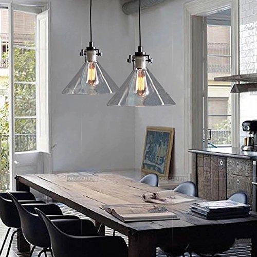 Buyee modernes Industrie Metall Glas Deckenleuchte Pendelleuchte Loft, Vintage, Retro