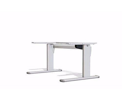Ergobasis elektrisches Tischgestell Version 1, stufenlos höhenverstellbar von ca. 72 bis 119 cm, manuell breitenverstellbar, mit einem Elektromotor als ergonomisches Schreibtischgestell für alle gängigen Tischplatten geeignet (bis 200 x 100 cm)