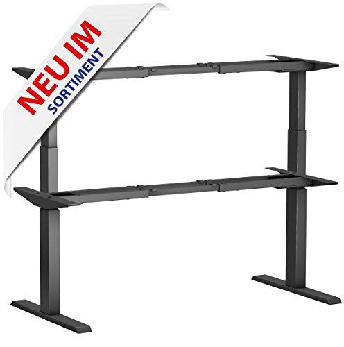 Tischgestell elektrisch BLACK LINE - ein Gestell für fast alle Plattenmaße