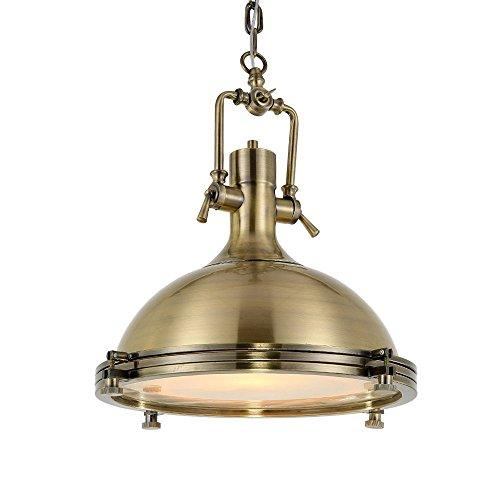 Maxmer Industrielle Vintage Pendelleuchte LED Hängelampe Eisen Höheverstellbar 1*E27 Glühbirne Klassisch und ländlich, für Wohnzimmer, küche, Restaurant, Cafe, Bar usw.(Silber/Golden/Schwarz)