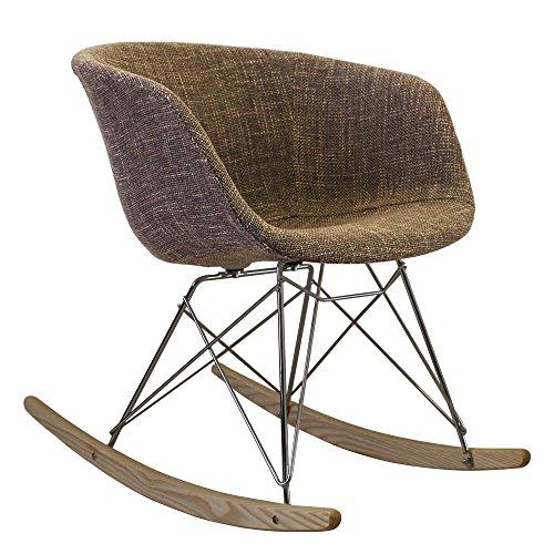 Style Interior Furniture Stil Innen Möbel Scandi Stil Schaukelstuhl Retro Kunststoff Badewanne Sitz mit Große Auswahl von Farben und Natur oder Walnuss Holz-Finish