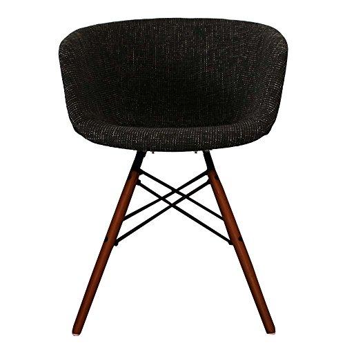 Vogue Style Arm stuhl Esszimmer Stühle in Stoff oder Kunststoff mit Natürliches Walnuss Holz Beine oder gebeizt Beine