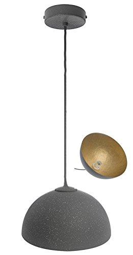elbmöbel Design Industrie Vintage Deckenleuchte Kronleuchte SOFIE Lampe 34cm 50cm exkl. E27 Leuchtmittel, LED, A++, verfügbar weiß schwarz gold Metall Kupfer Textilkabel Wohn- Esszimmer