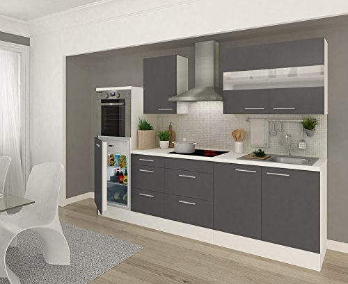 respekta k chenleerblock 270 cm wei fronten grau hochglanz esszimmerst. Black Bedroom Furniture Sets. Home Design Ideas