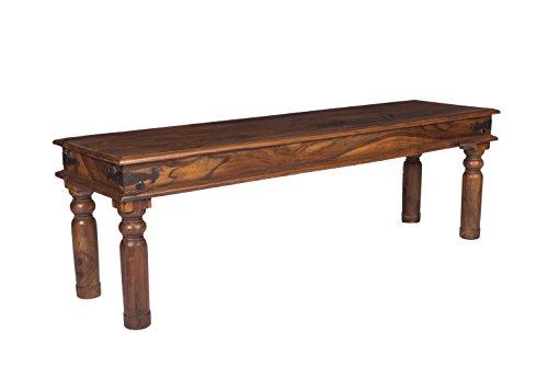 stylla London handgefertigt Rustikal Industrie Esstisch Sheesham massiv, sitzen Flur Bank, Holz, braun, 40x 145x 45cm