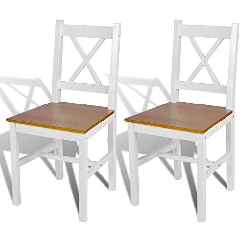 vidaXL 2x Massivholz Esszimmerstuhl Küchenstuhl Stühle Esszimmer Stuhl Landhaus