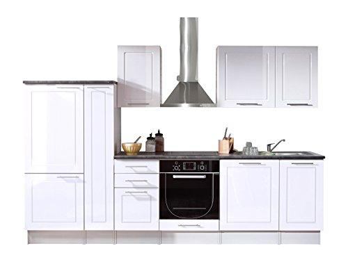 Stella Trading Welcome 6 Küche, Holzdekor, weiß, 300 x 60 x 204 cm