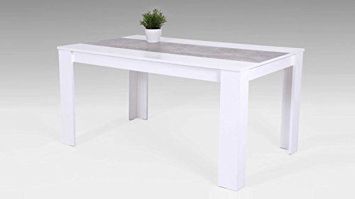 Küchentisch Esstisch Lilo Tisch Esszimmertisch weiß Betonoptik 140x80 cm