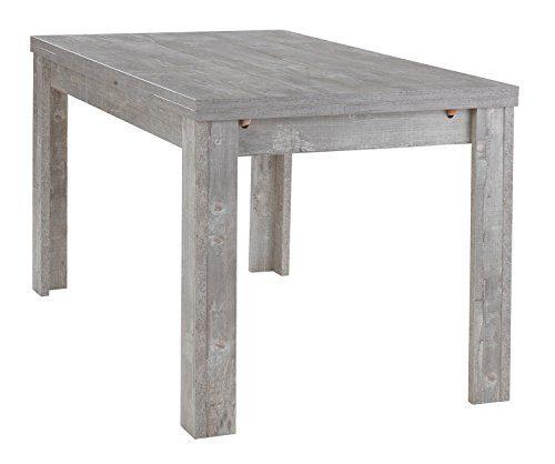 Nicht Zutreffend Esstisch Küchentisch Ausziehtisch MARY 64 | B 140 x T 80 cm | Dekor | Grau | Betonoptik | ausziehbar