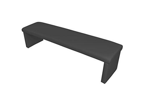 CAVADORE Vorbank CHARISSE / Küchenbank 180 cm breit in schwarz / Moderne, gepolsterte Sitzbank / Kunstleder-Bank schwarz / Bank ohne Lehne: 180 x 45 x 48 cm (B x T x H)