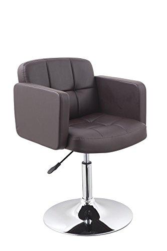 Clubsessel Sessel Kunstleder Braun Esszimmerstuhl Lounge Sessel höhenverstellbar drehbar Duhome 0494