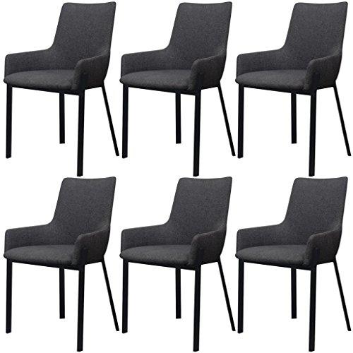 songmics 2er set esszimmerstuhl k chenstuhl mit wildlederoptik polsterstuhl mit hoher. Black Bedroom Furniture Sets. Home Design Ideas