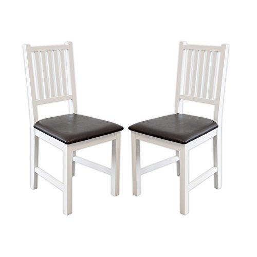 Esszimmerstühle Lucca (Weiss, 2 x Stühle)
