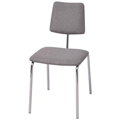 Festnight 4tlg. Esszimmerstuhl-Set Ergonomisch Essstuhl Stoff-Polsterung Küchenstuhl Esszimmer Sitzgruppe Stuhlset 41x52x82cm Mehrfarbig