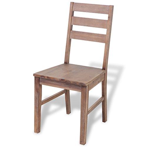 Festnight 4 Stk. Esszimmerstühle Set Holz Essstuhl aus Akazienholz Küchenstühle Esszimmer Holzstuhl Stulgruppe 55x44x94,5cm