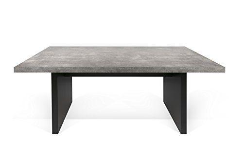 TemaHome 9000.613494 Detroit Esstisch Wabekonstruktion, 160 x 80 x 72 cm, betonfarbig