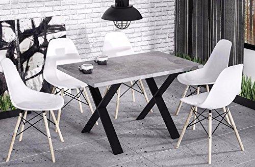 Endo Esstisch Endo Stol X 210 Küchentisch Industrial Loft Design Tisch Metallgestell // Beton-Optik