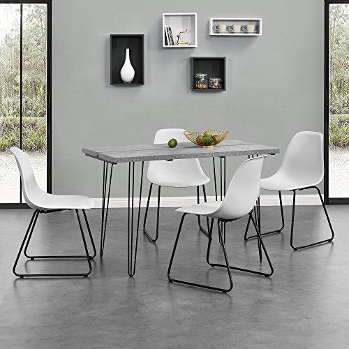 [en.casa] Esstisch Design für 4 Personen - Beton-optik - hochweriges zeitloser MDF Tisch