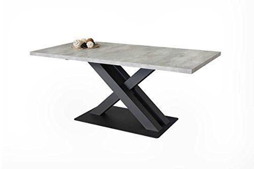 Altacom Esstisch Cortina | Tisch | Küchentisch | Beton Optik 180 x 90 cm mit kratzfester Melamin Oberfläche