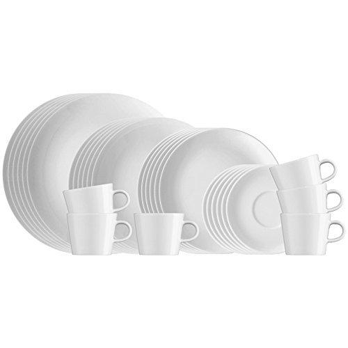 Arzberg 421-5903-28450 Cucina-Basic Rok Weiss Kombiset 30-tlg, Porzellan, White, 39,799999999999997 x 29,8 x 29,8 cm