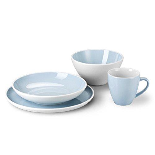 Arzberg 49600-670173-28509 Profi Sky Starterset 4-teilig, Porzellan, blau, 22.3 x 22.3 x 22.8 cm
