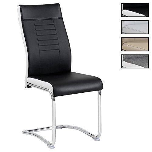 CARO-Möbel 4er Set Esszimmerstuhl Küchenstuhl Schwingstuhl Loano, in 3 Verschiedenen Farben, Gestell in Chrom