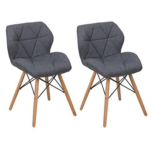 COSTWAY Polsterstuhlset 2 x Wohnzimmerstühle Esszimmerstühle Küchenstühle Arbeitsstühle Designerstühle Stühle Farbwahl
