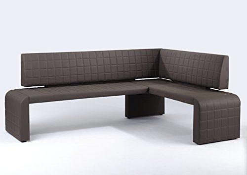 Cavadore Eckbank Cobra/Gepolsterte Kunstleder-Sitzbank mit Lehne