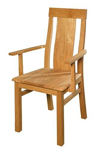 Esszimmerstuhl aus Eiche massiv ✓ Geölt ✓ Extrem robust ✓ Ergonomisch geformt   Holzstuhl für Küche & Esszimmer   Rustikaler Esstisch-Stuhl, Massivholz-Stuhl, Küchenstuhl aus Eiche