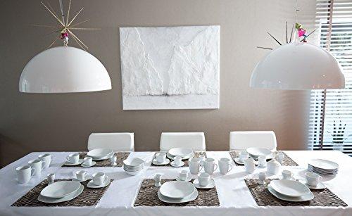 Geschirr Porzellan Set Tafelservice Geschirrset Teller Kombiservice 62 teilig weiß