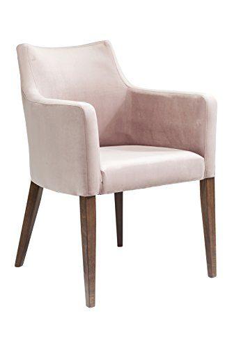 KARE Design Mode Velvet, mit Samt Bezug, Füße Buche massiv, Nussbaum lackiert