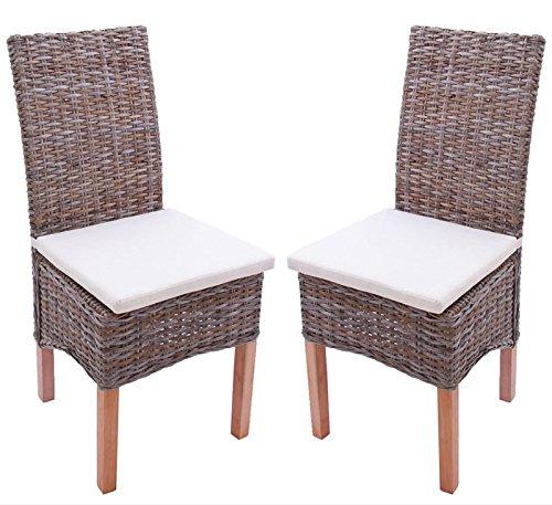mendler 2x esszimmerstuhl korbstuhl stuhl m44 kubu rattan mit sitzkissen esszimmerst. Black Bedroom Furniture Sets. Home Design Ideas