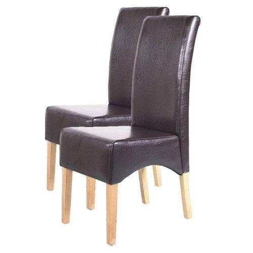 mendler 2x esszimmerstuhl lehnstuhl stuhl latina leder. Black Bedroom Furniture Sets. Home Design Ideas