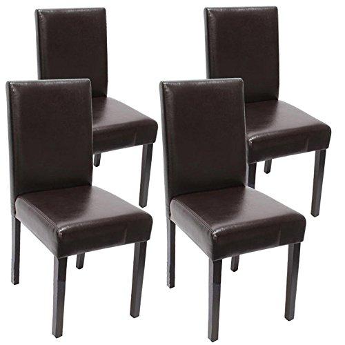 mendler 4x esszimmerstuhl stuhl lehnstuhl littau leder. Black Bedroom Furniture Sets. Home Design Ideas