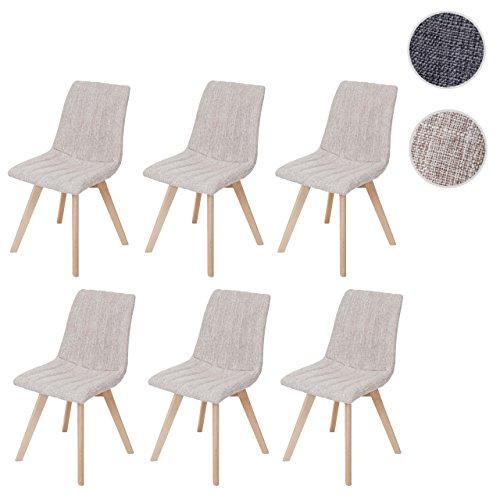 mendler 6x esszimmerstuhl calgary stuhl lehnstuhl retro 50er jahre design textil. Black Bedroom Furniture Sets. Home Design Ideas