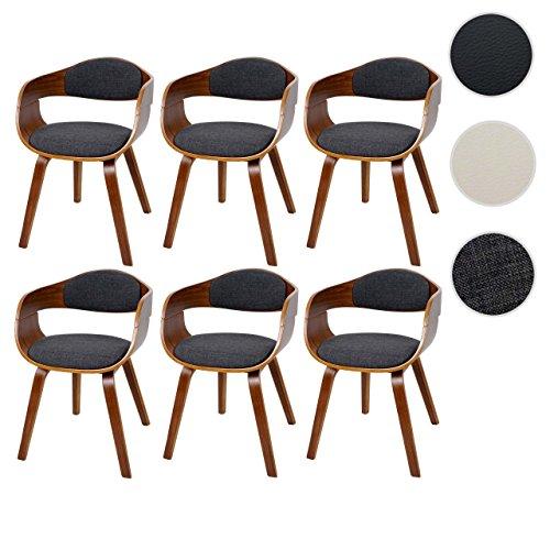 mendler 6x esszimmerstuhl hwc a47 holz bugholz retro design walnussoptik esszimmerst. Black Bedroom Furniture Sets. Home Design Ideas