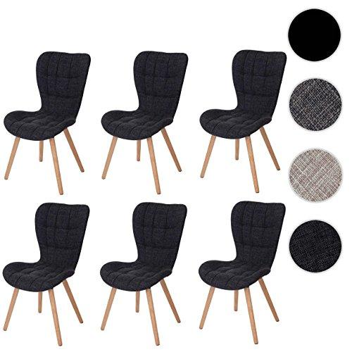 mendler 6x esszimmerstuhl hwc a87 stuhl lehnstuhl retro 50er jahre design esszimmerst. Black Bedroom Furniture Sets. Home Design Ideas