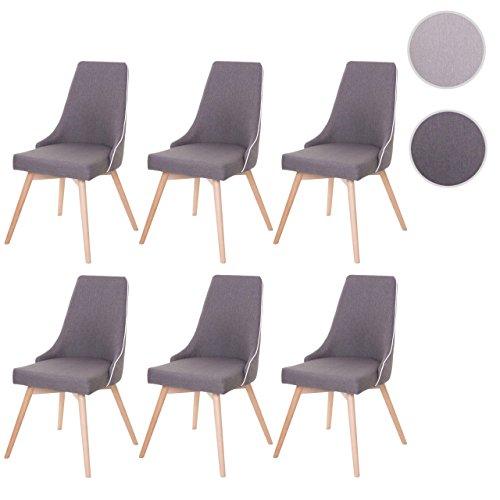 mendler 6x esszimmerstuhl hwc b44 stuhl lehnstuhl retro 50er jahre design textil. Black Bedroom Furniture Sets. Home Design Ideas