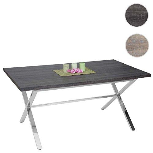 Mendler-Esszimmertisch-Fano-Tisch-Esstisch-Edelstahl-3D-Struktur-160x90cm-0