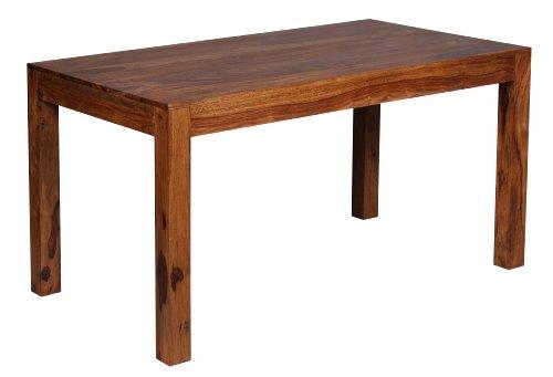 Mendler Esszimmertisch Malatya, Tisch Esstisch, Sheesham Massivholz, 76x140x80cm