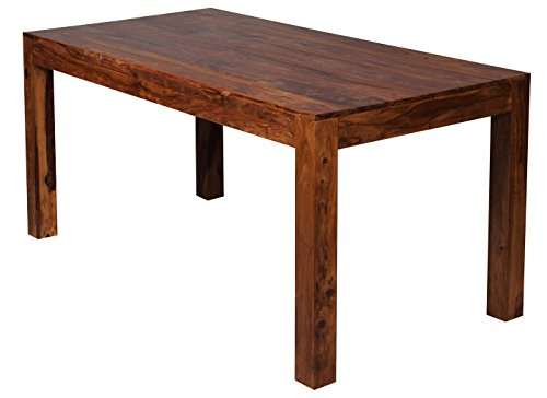 Mendler Esszimmertisch Malatya, Tisch Esstisch, Sheesham Massivholz, 76x160x80cm