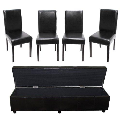 Mendler-Garnitur-Sitzgruppe-Bank-mit-Aufbewahrung-Kriens-XXL4-Sthle-Littau-KunstlederLeder-schwarz-0