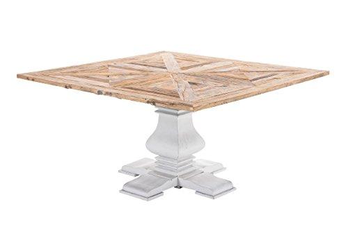 Mendler Luxus Esstisch CP582, Esszimmertisch Tisch, Handarbeit, recyceltes Ulmenholz ~ 100x100cm