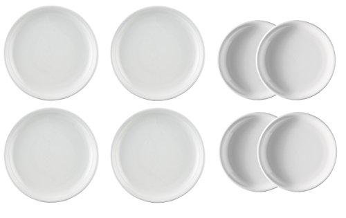 Rosenthal Thomas Trend Weiss 4x Speiseteller Ø26cm und 4x Frühstücksteller Ø20cm