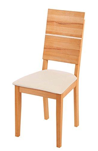 SAM® Esszimmerstuhl Hugo, mit braunem Sitzpolster, massiver Holzstuhl, pflegeleichter Stuhl