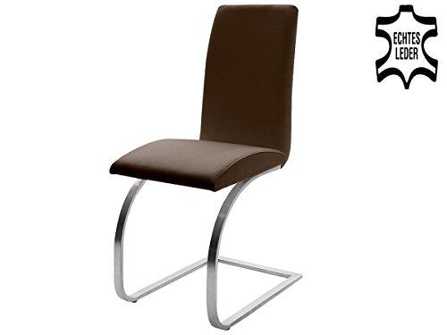 """Schwingstuhl Leder Echtlederstuhl Lederstühle Stuhl Stühle """"Taliteo I"""" (2er Set)"""